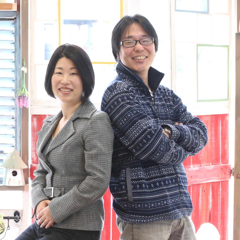 代表取締役 越智祥子(左)、サイバーセキュリティー事業部 事業部長 越智一敦(右)